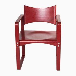 Sedia da pranzo nr. 271 rossa di Verner Panton per Thonet, anni '70