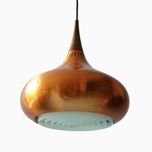 Copper & Rosewood Orient Major Pendant Lamp by Jo Hammerborg for Fog & Mørup