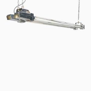 Luminaire à bande LED antidéflagrante Industriel en Aluminium et Verre de Crompton, 1970s