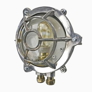 Industrial Aluminum Circular Wall Light from EOW, 1977