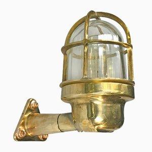 Industrielle Messing Wandlampe von Wiska, 1970er
