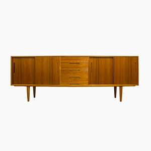 Mid-Century Swedish Gigant Teak Sideboard by Nils Jonsson for Troeds