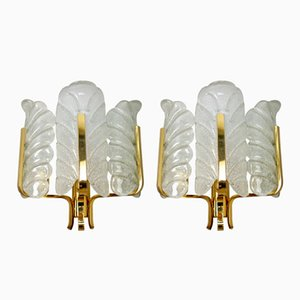 Vintage Sconces by Carl Fagerlund for Orrefors, Set of 2