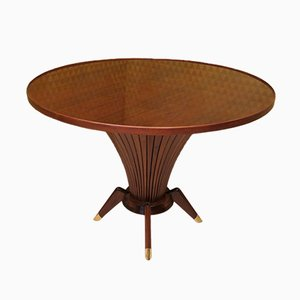 Round Italian Center Table, 1950s
