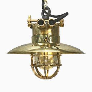 Lampe à Suspension Industrielle en Laiton et Bronze de Wiska, Allemagne, 1976