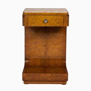 Table de Chevet Art Deco Arrondie, 1925