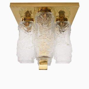 Luz alemana vintage con marco de latón de Hillebrand Lighting