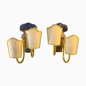 Vintage Swedish Art Deco Wall Sconces, Set of 2