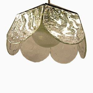 Lámpara de techo italiana vintage floral de Carlo Nason para Mazzega