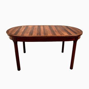Rosewood Oval Dining Table by Nils Jonsson for Hugo Troeds, 1960s