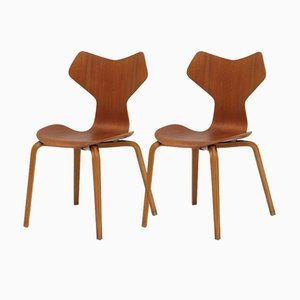 Grand Prix Chairs by Arne Jacobsen for Fritz Hansen, Set of 2