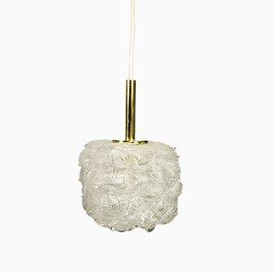 Lámpara colgante de vidrio de Doria Leuchten, años 70