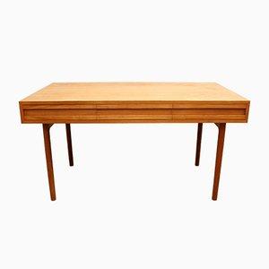 Schweizer Vintage Eiche Schreibtisch, 1960er