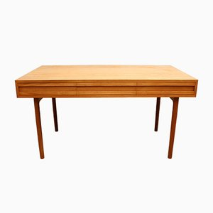 Vintage Swiss Oak Desk, 1960s