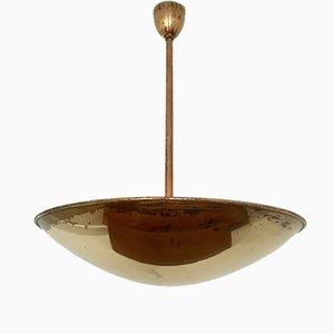 Italienische Messing Deckenlampe, 1950er