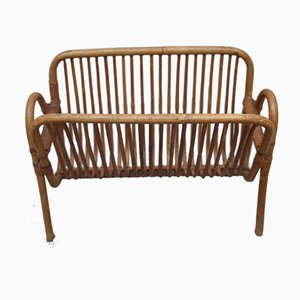 Mid-Century Modern Bamboo Magazine Rack from Rohé Noordwolde