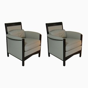Lounge Chairs by Umberto Asnago for Giorgetti, 1980s, Set of 2