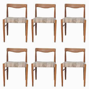 Scandinavian Teak Dining Chairs by H.W. Klein for Bramin Mobler, 1965, Set of 6
