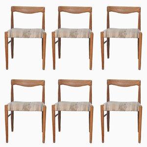 Skandinavische Esszimmerstühle aus Teak von H.W. Klein für Bramin Mobler, 1965, 6er Set