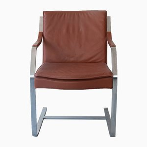 Camel/Brown Leather Armchair by Rudolf Bernd Glatzel for Walter Knoll, 1970s