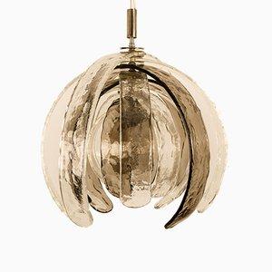 Lampe à Suspension Artichaut Sculpturale par Carlo Nason pour Mazzega, 1970s