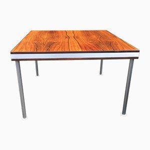 Tavolino quadrato impiallacciato in palissandro di Finn Juhl per France & Son, anni '60