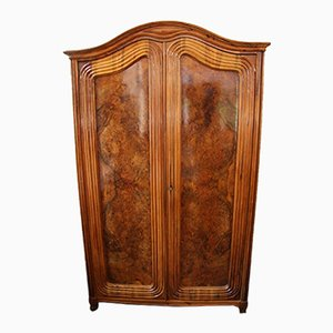 Late Biedermeier Veneered Cabinet with 2 Doors