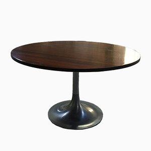 Table avec Piédestal en Aluminium, Italie, 1960s