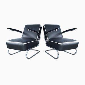 Chaises K29 de Style Bauhaus Tchécoslovaque par Slezak, 1932, Set de 2
