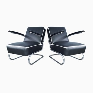 Tschechoslowakische K29 Bauhaus Stil Stühle von Slezak, 1932, 2er Set