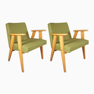 Mid-Century Polish 366 Armchairs by Józef Chierowski, Set of 2
