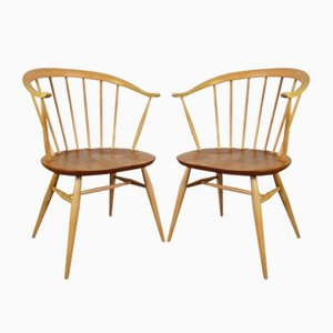 Vintage Bow Top Side Chairs by Lucian Ercolani for Ercol, 1960s, Set of 2