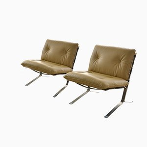 Mid-Century Joker Lounge Chairs by Olivier Mourgue for Airborne, 1970s, Set of 2