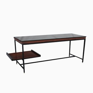 Mid-Century Italian Metal and Wood Desk, 1958