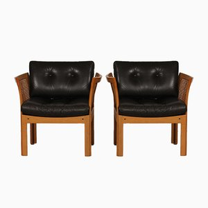 Danish Plexus Easy Chairs by Illum Wikkelsø for CFC Silkeborg, 1960s, Set of 2