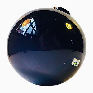 Rocking Spherical Glass Vase by Birgitta Watz for Lindshammar, 1995