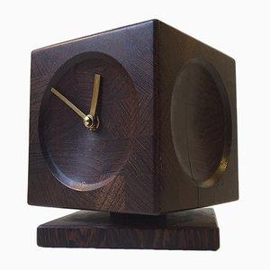 Horloge de Table Cube Mid-Century, Danemark, 1960s