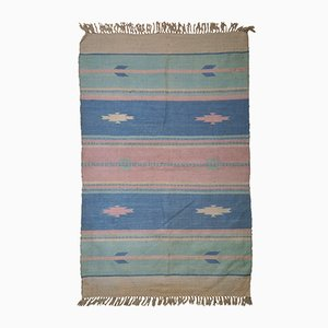Handgeknüpfter Indischer Vintage Dhurri Kilim, 1960er