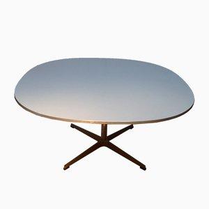 Tavolino da caffè ovale di Arne Jacobsen, Bruno Mathsson, & Piet Hein per Fritz Hansen, anni '60