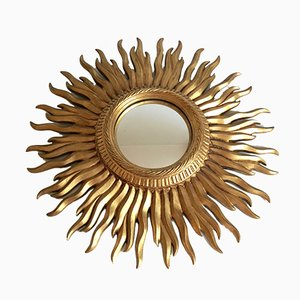 Vintage Art Deco Konvex Sunburst Mirror