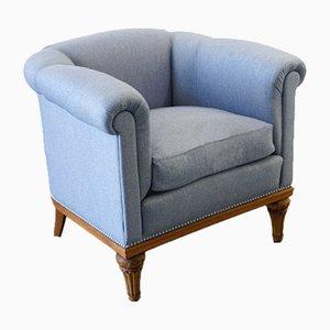Club chair semicircolare, anni '40