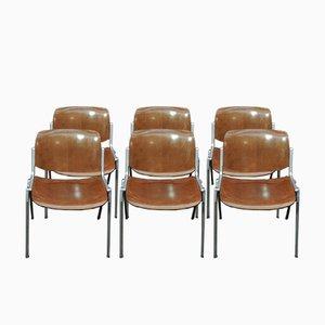Chaises Empilables par Giancarlo Piretti & Enrico Castellani pour Castelli, 1960s, Set de 2