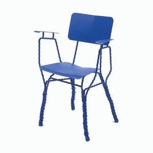 Chaise Torsadée avec Accoudoirs par Ward Wijnant