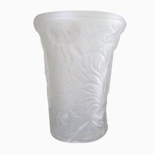 Tschechische Vase aus Glas mit Unterwasserwelt Motiv von Josef Inwald für Barolac, 1960er