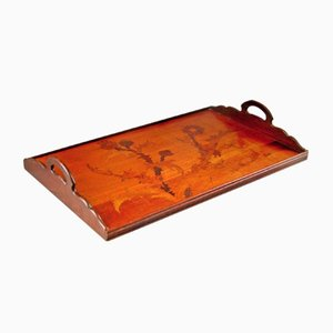 Antique Serving Tray by Emile Galle