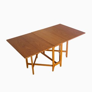 Norwegian Gate Leg Dining Table by Bendt Winge for Kleppes, 1950s