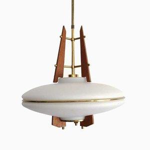 Lámpara de araña italiana era espacial, años 60