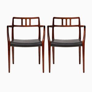 Model 64 Rosewood Armchairs by Niels Otto Møller for J.L. Møllers, 1960s, Set of 2