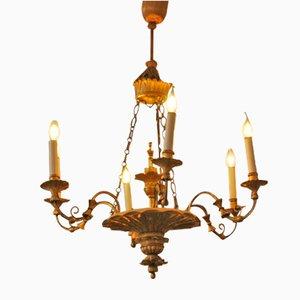 6-Leuchten Kronleuchter, 1830er