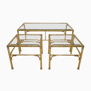 Gilded Nesting Tables from Chelsom, 1980s